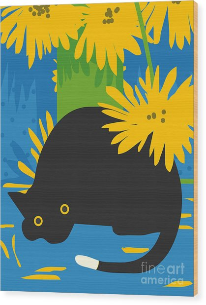 Cat Look 6 Wood Print