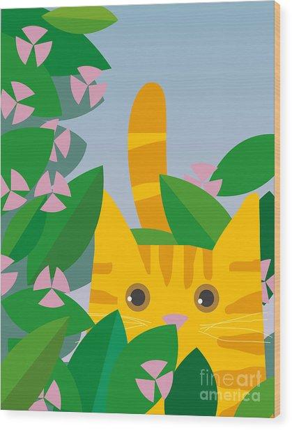 Cat Look 7 Wood Print
