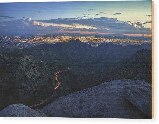 Catalina Highway And Tucson Wood Print