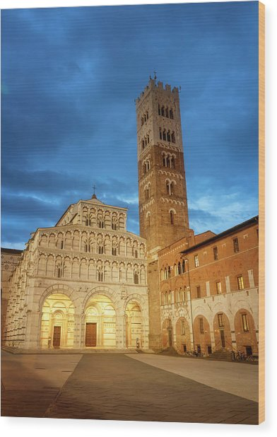 Cathedral Lucca Italy Wood Print