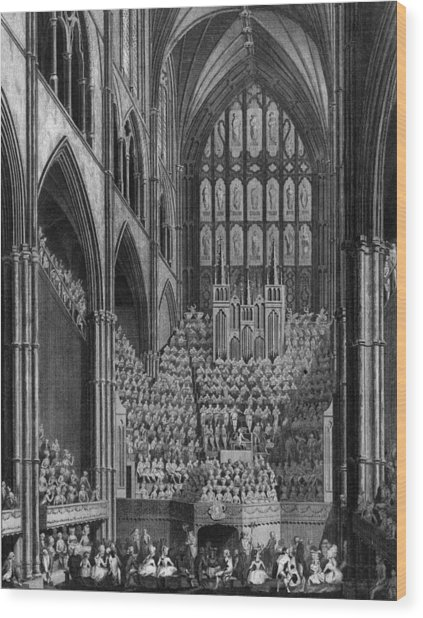 Cathedral Orchestra Wood Print by Hulton Archive