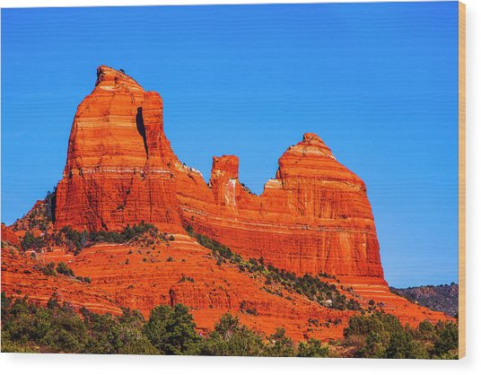 Cathedral Rock Wood Print by Fernando Margolles