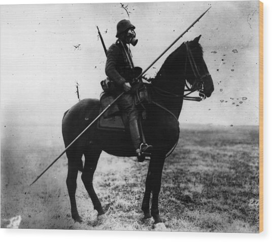 Cavalryman Wood Print by Topical Press Agency