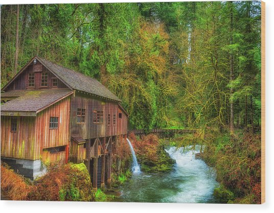 Cedar Creek Grist Mill Wood Print