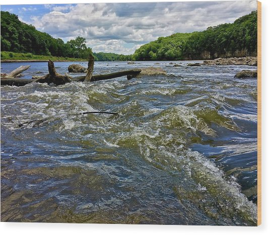 Wood Print featuring the photograph Cedar River Iowa by Dan Miller