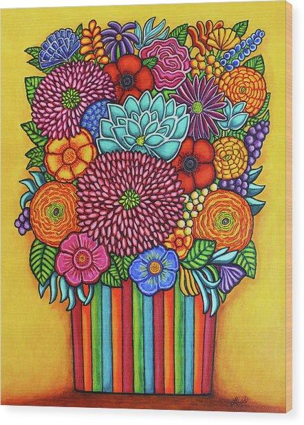 Celebration Bouquet Wood Print