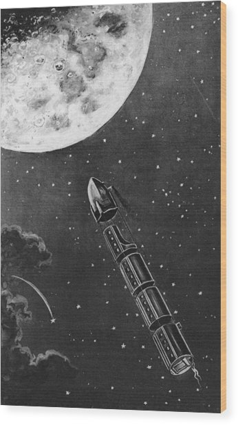 Celestial Travel Wood Print by Hulton Archive