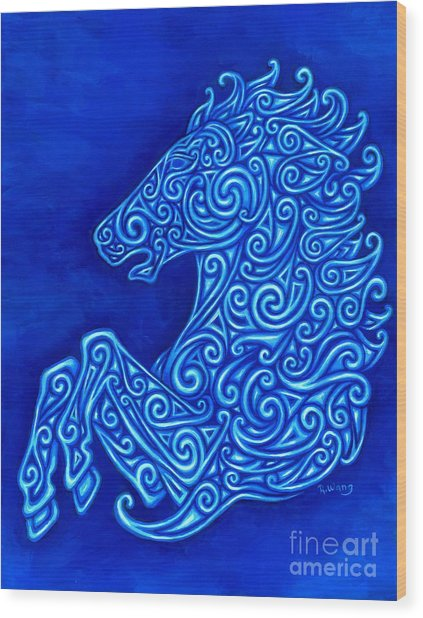 Celtic Horse Wood Print