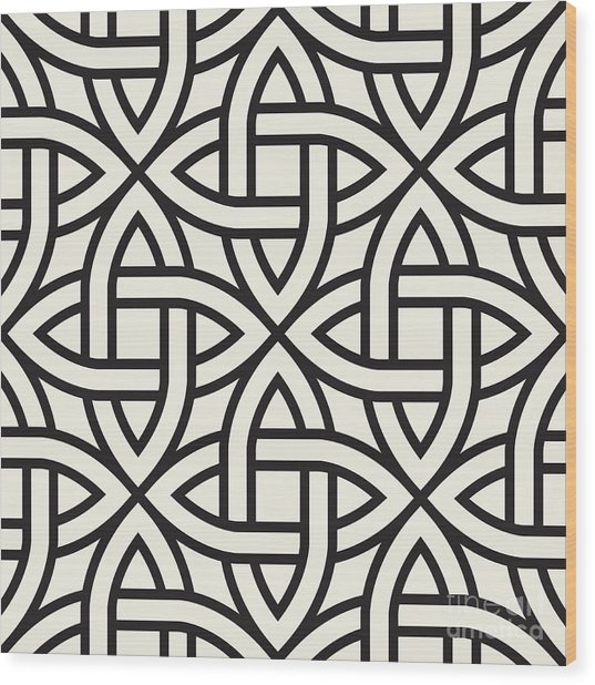 Celtic Seamless Pattern. Abstract Wood Print