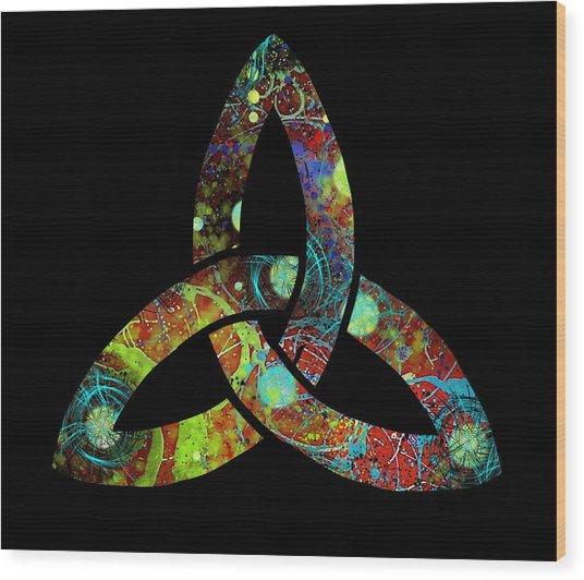 Celtic Triquetra Or Trinity Knot Symbol 1 Wood Print