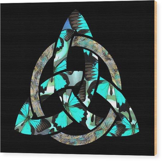 Celtic Triquetra Or Trinity Knot Symbol 2 Wood Print