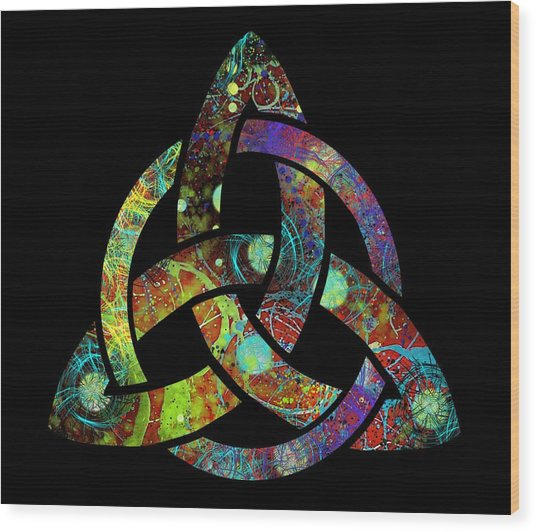Celtic Triquetra Or Trinity Knot Symbol 3 Wood Print