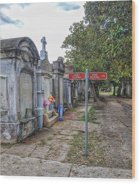 Cemetery #1 Wood Print