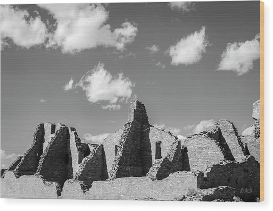 Wood Print featuring the photograph Chaco Ruins I Bw by David Gordon