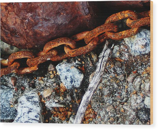 Chained To The Past 2 Wood Print