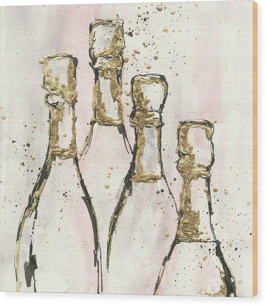 Champagne Is Grand II Wood Print by Chris Paschke