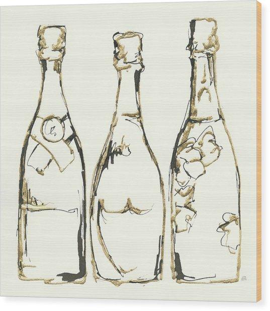 Champagne Is Grand IIi Wood Print