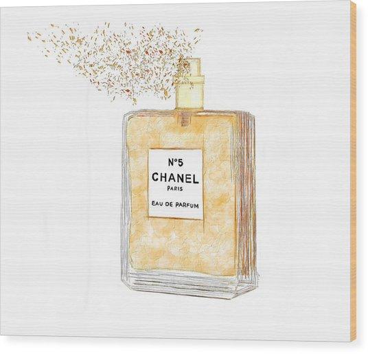 Chanel Splash Wood Print