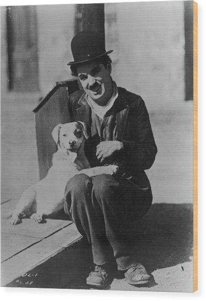 Chaplin And Mutt Wood Print by Fpg