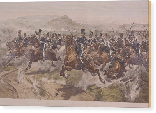 Charge Of The Light Brigade Wood Print by Fotosearch