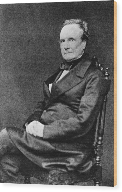 Charles Babbage Wood Print by Hulton Archive