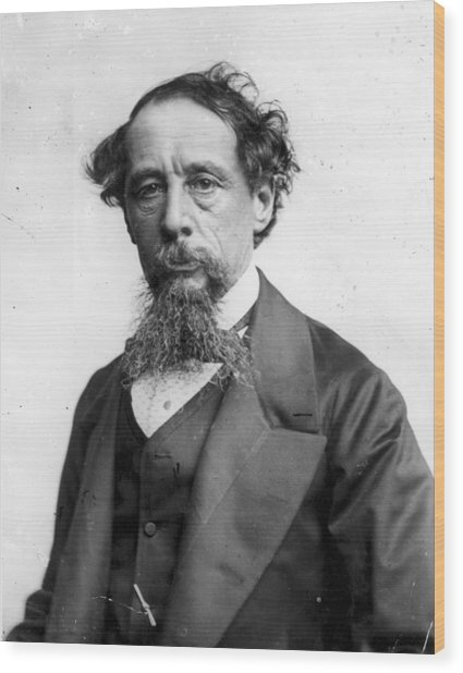 Charles Dickens Wood Print by Rischgitz