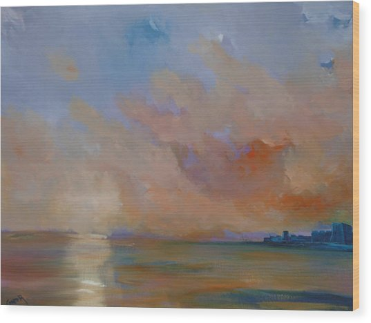 Charles Fort Kinsale Below A Painted Sky Wood Print by Conor Murphy