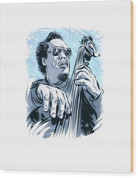Charles Mingus - An Illustration By Paul Cemmick Wood Print