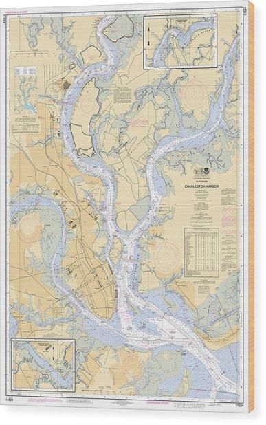 Charleston Harbor, Noaa Chart 11524 Wood Print