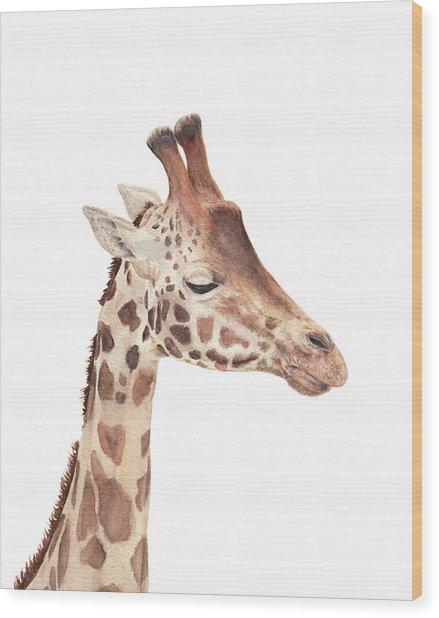 Charlie The Giraffe Wood Print