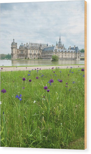 Chateau De Chantilly, Chantilly, France Wood Print by Lisa S. Engelbrecht