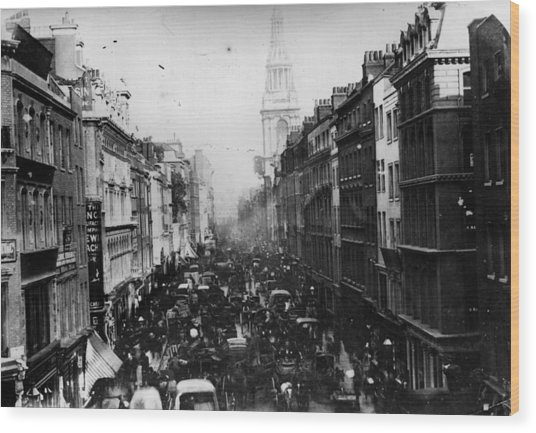 Cheapside Wood Print by General Photographic Agency