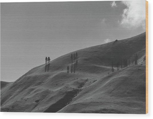 Chelan Mountains Wood Print
