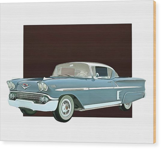 Wood Print featuring the digital art Chevrolet Impala Special Edition by Jan Keteleer