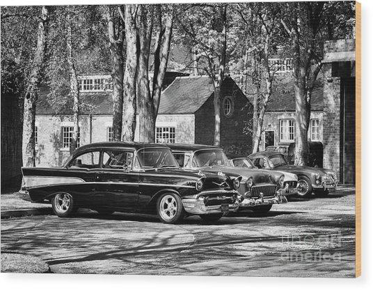 Chevrolets Monochrome Wood Print