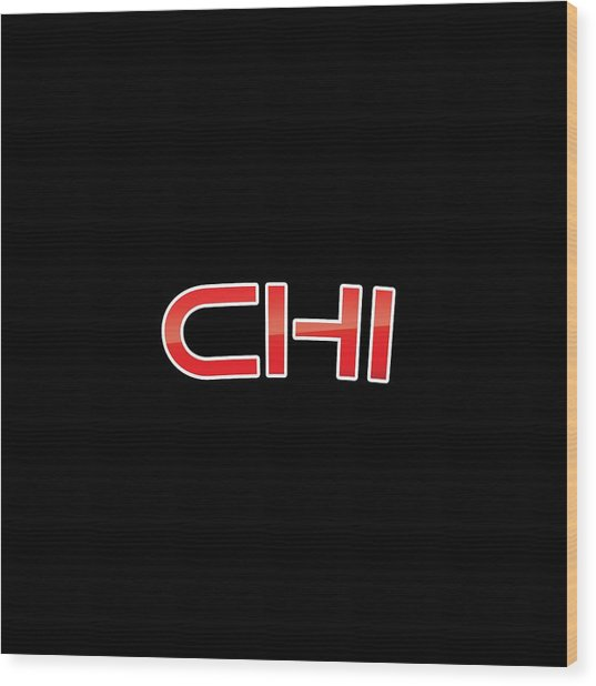 Chi Wood Print