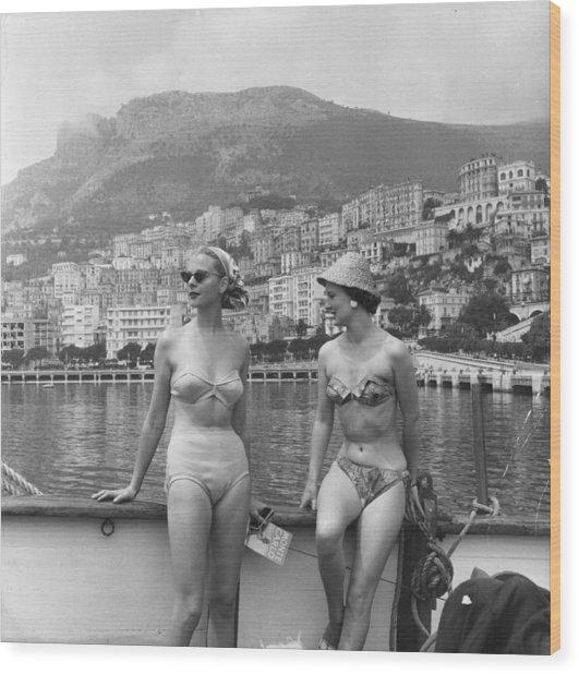 Chic Bikini Wood Print by Bert Hardy