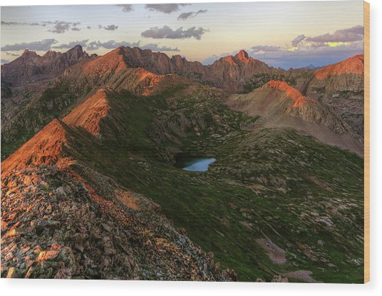 Chicago Basin Sunset Wood Print by Photo By Matt Payne Of Durango, Colorado