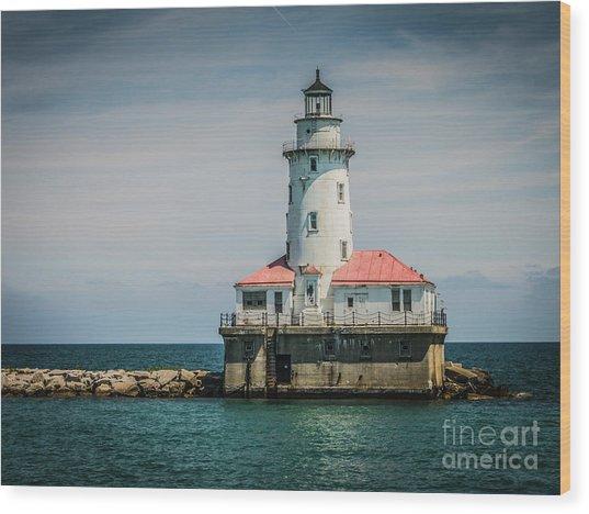 Chicago Harbor Lighthouse Wood Print