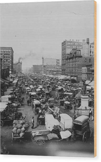 Chicago Haymarket Wood Print by Hulton Archive