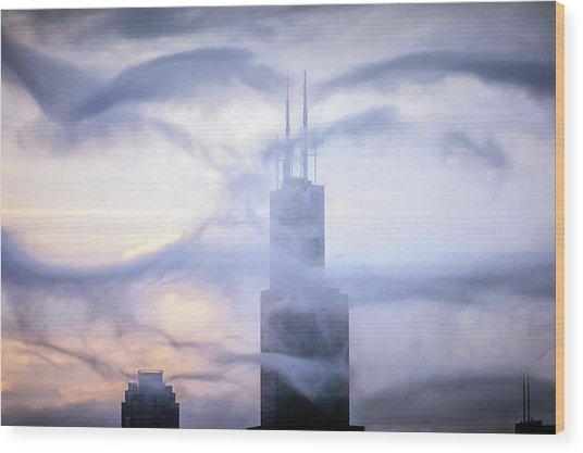 Chicago Tops No. 2 Wood Print by By Ken Ilio