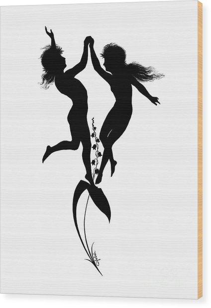Children Dancing, Illustration For Gottliche Jugen Ein Tag Aus Dem Sonnenlande Wood Print