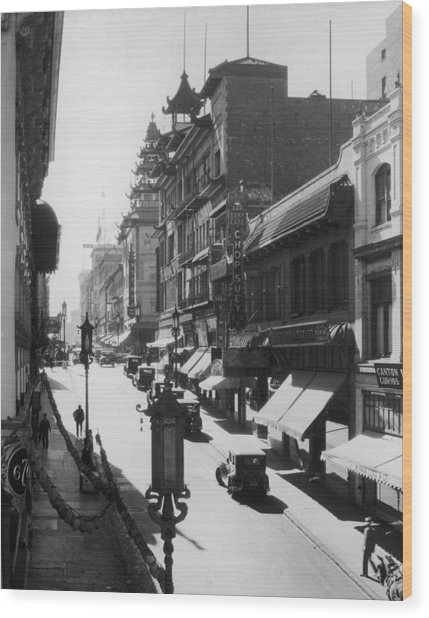 Chinatown Wood Print by Hulton Archive