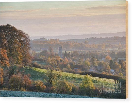 Chipping Campden Autumn Morning Cotswolds Wood Print by Tim Gainey