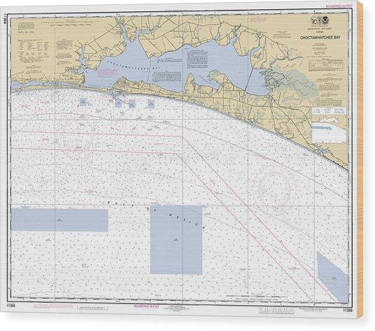 Choctawhatchee Bay Noaa Chart 11388 Wood Print