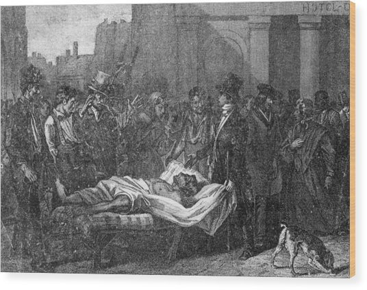 Cholera In Paris Wood Print by Hulton Archive