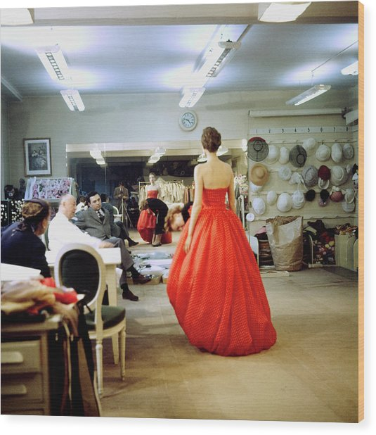 Christian Diorchristian Dior Misc Wood Print by Loomis Dean