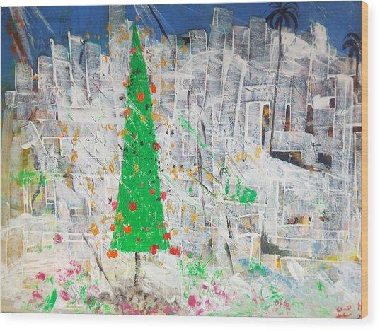 Christmas In Town Wood Print
