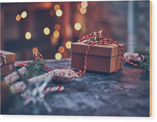 Christmas Pesent Wood Print