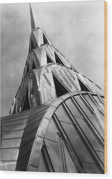 Chrysler Building Spire Wood Print